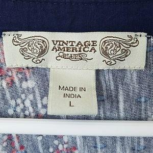 Vintage America Blues Tops - Vintage America Blues Boho Top